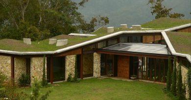 maison toit vert